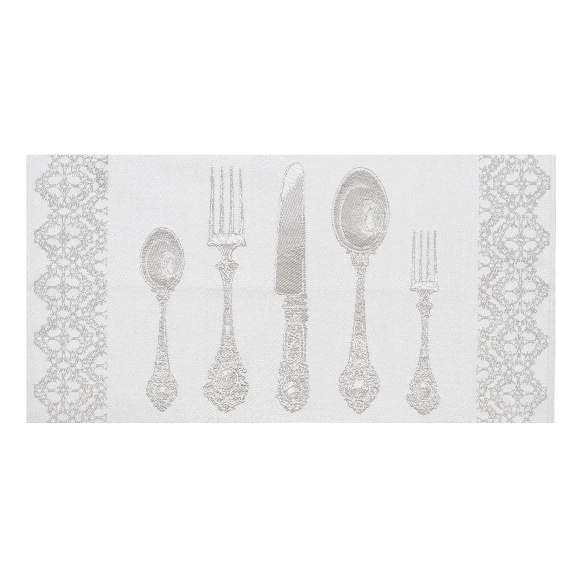 Полотенце для кухни вафельное с декор отделкой Devilla 50х70