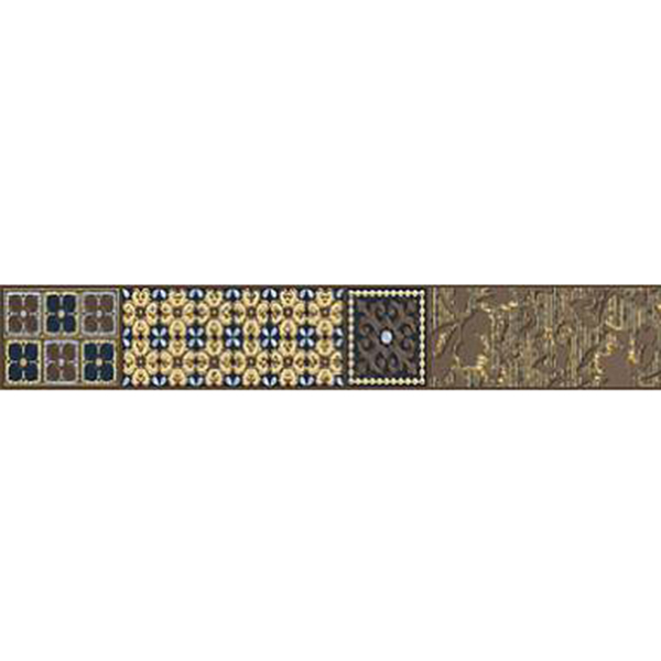 Фото - Бордюр Azori Камлот Мокка Эйша 40,5х5 керамическая плитка azori камлот мокка эйша 5х40 5 бордюр