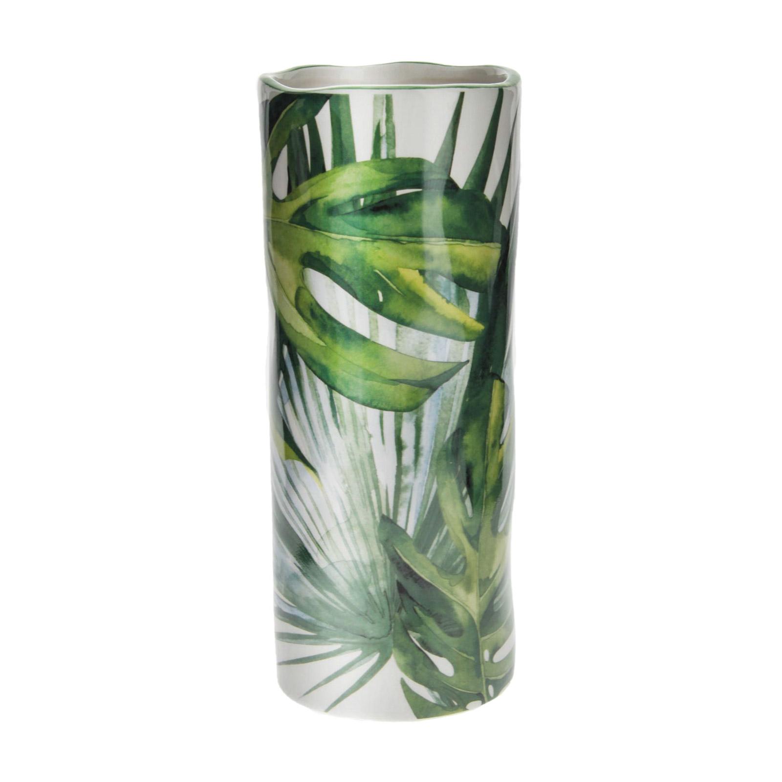 Ваза декоративная Русские подарки Тропики фарфор 20 см