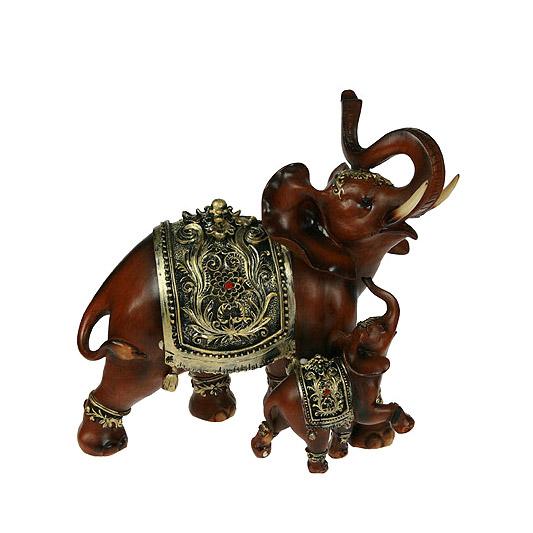 Фигурка декоративная Русские подарки Слоны 26x12x25 см