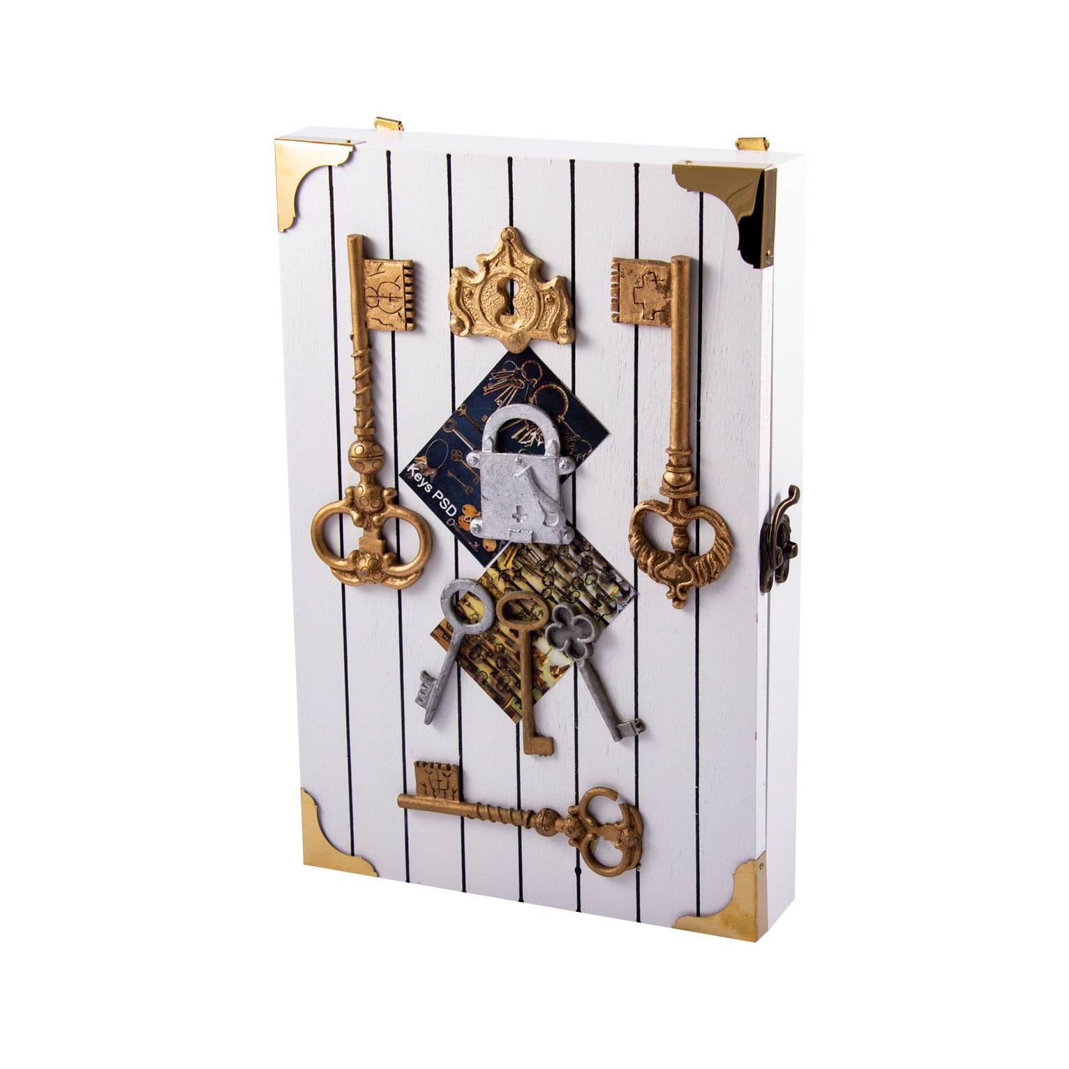 Коллаж-ключница Русские подарки Ключики 20x30x5 см 33893 lefard ключница abilene 5х26х26 см