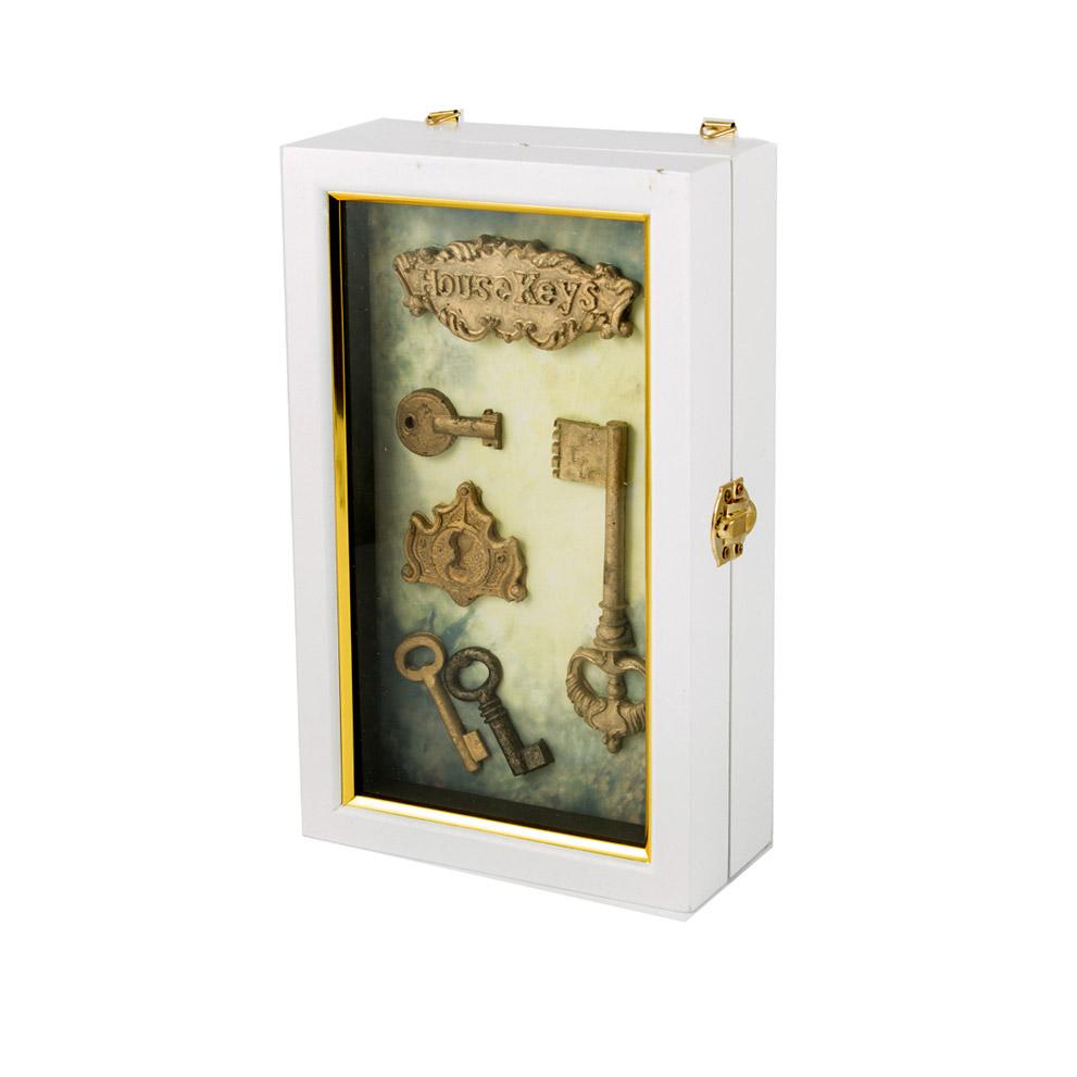 Коллаж-ключница Русские подарки Ключики 15x7x25 см ключница art east охота 29 33 см