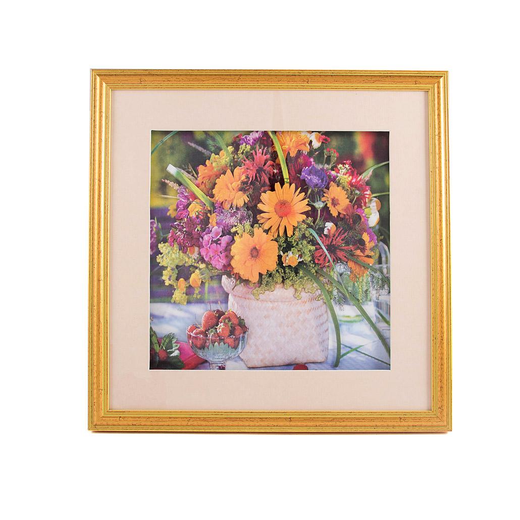 Картина Русские подарки Герберы 35x35x3 см фото