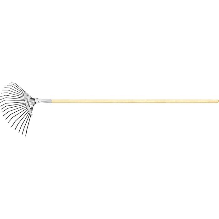 Грабли веерные Сибртех стальные, 385х1500 мм, 20 плоских зубьев недорого