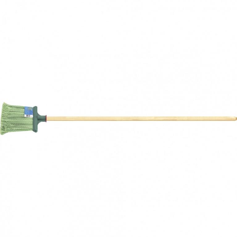 Метла полипропиленовая Сибртех 240х160х1400 мм, плоская распушенная, деревянный черенок недорого