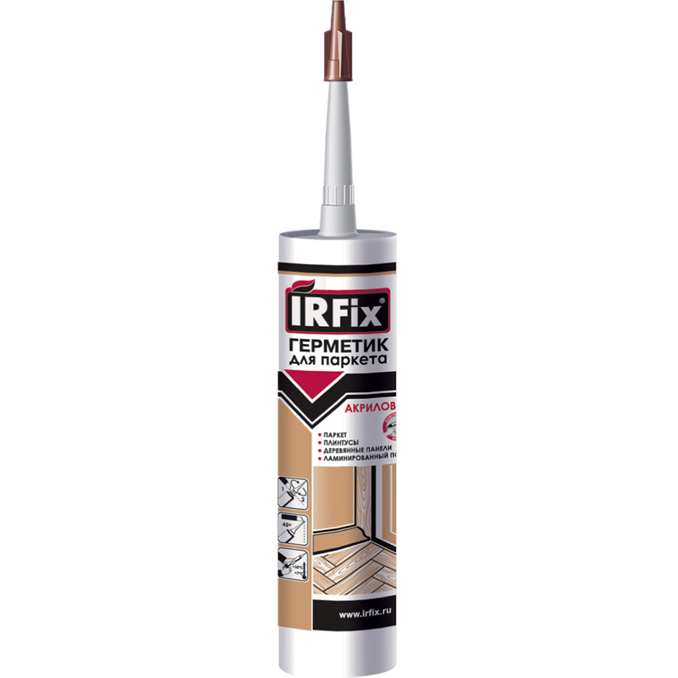 Герметик IRFIX Для паркета акриловый Орех 310 мл