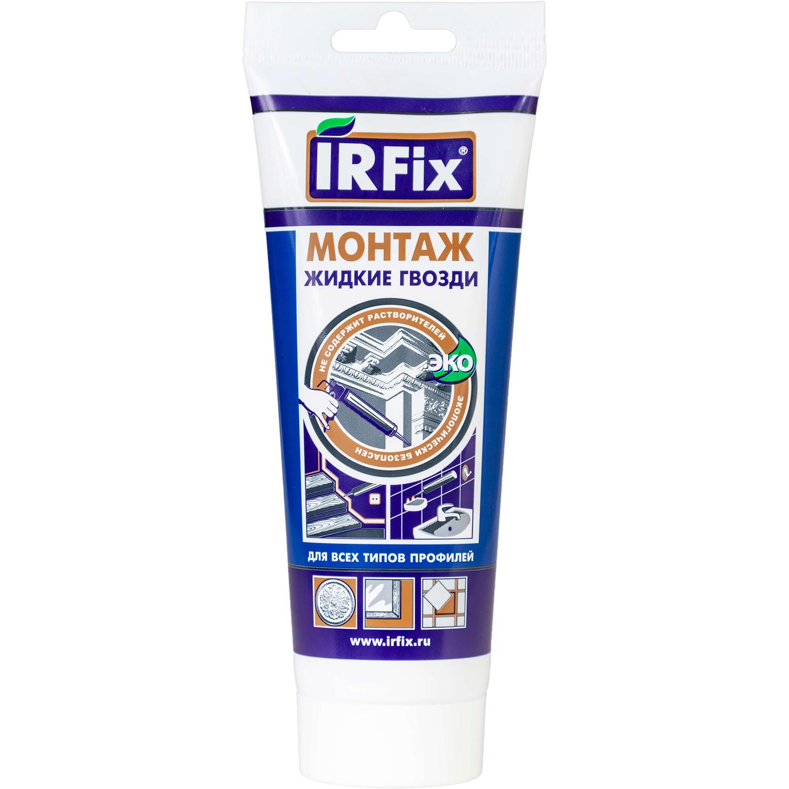 Клей IRFIX Монтаж Жидкие гвозди белый 250 мл клей для изделий из гипса monte alba 4 кг