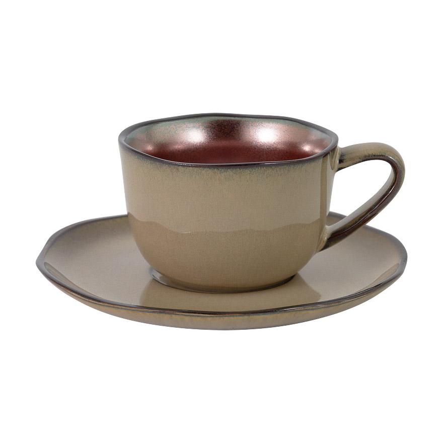Чашка с блюдцем JULIA VYSOTSKAYA Copper 0,18 л чашка с блюдцем весна windsor