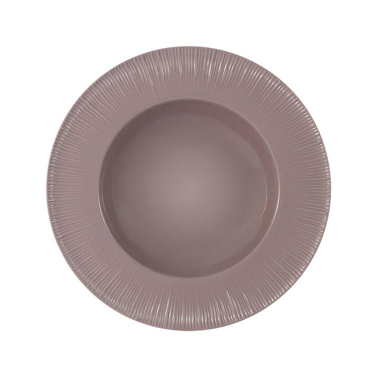 Тарелка суповая Home & Style Какао 24 см