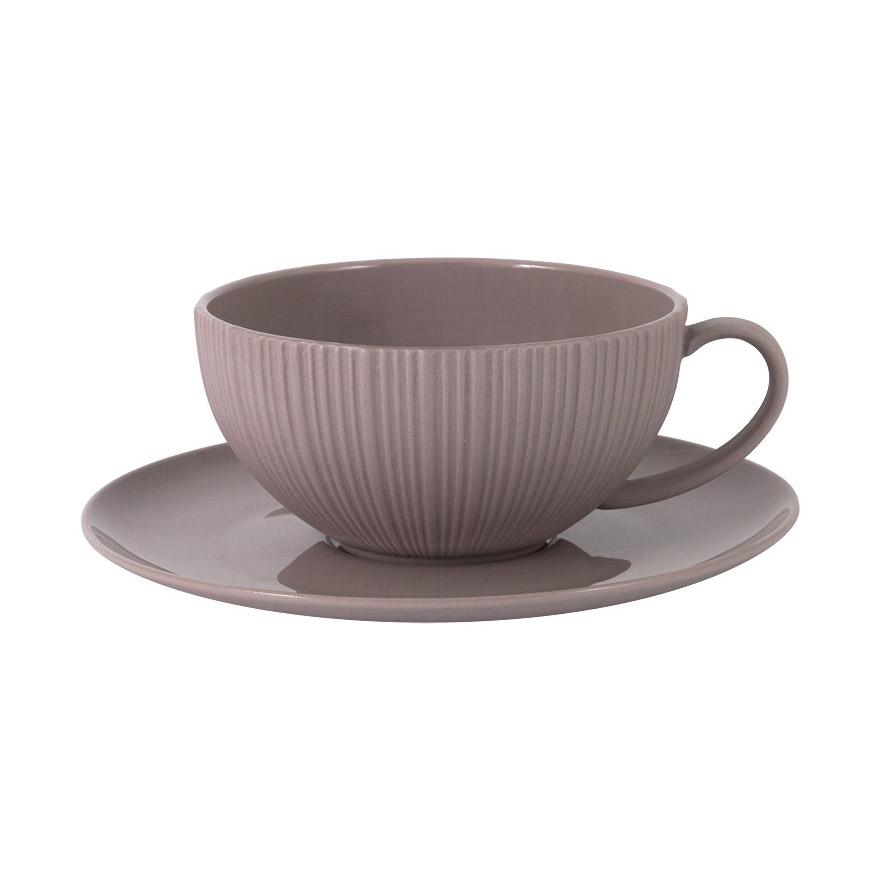 Чашка с блюдцем Home & Style Какао 0,2 л фото