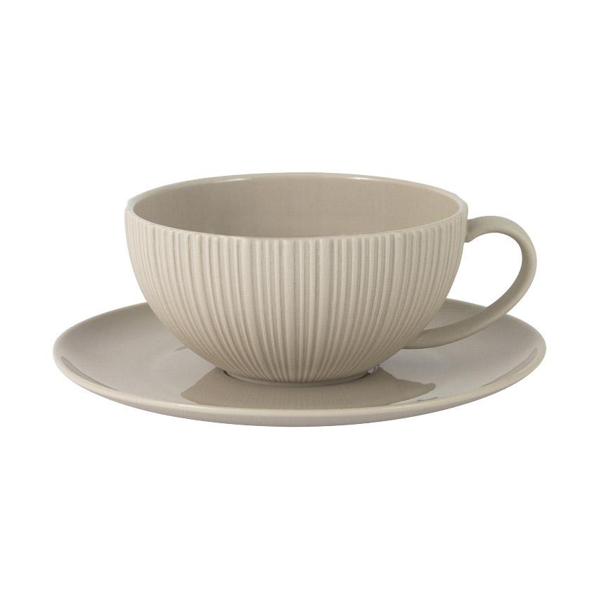 Чашка с блюдцем Home & Style Карамель 0,2 л чашка с блюдцем весна windsor
