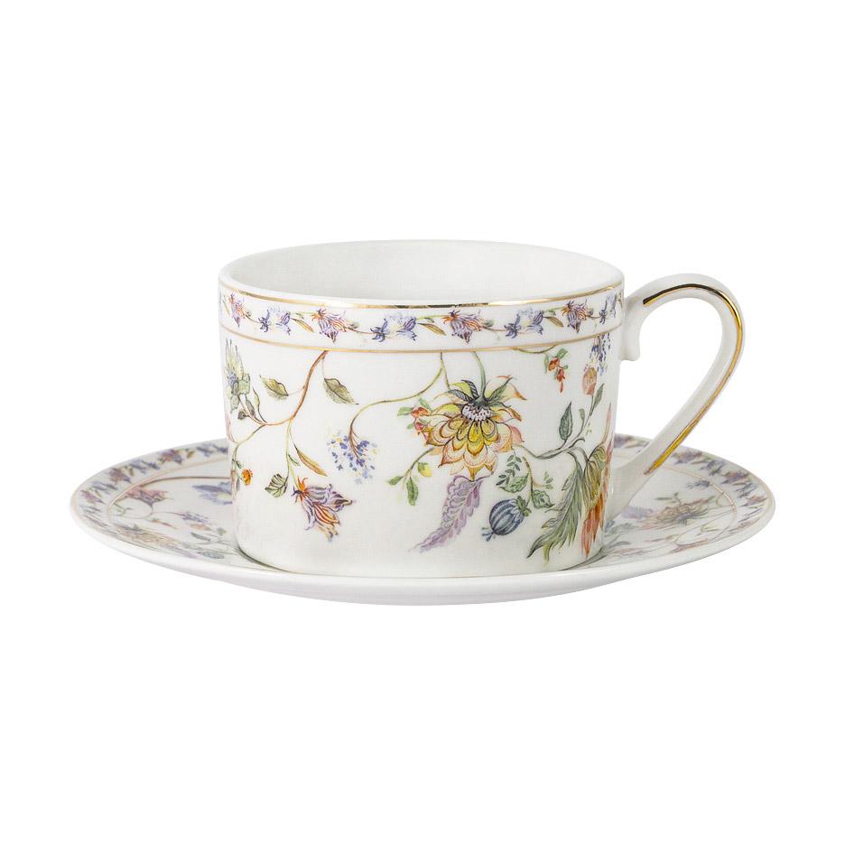 Чашка с блюдцем Anna Lafarg Primavera Флора 0,25 л чашка с блюдцем весна windsor