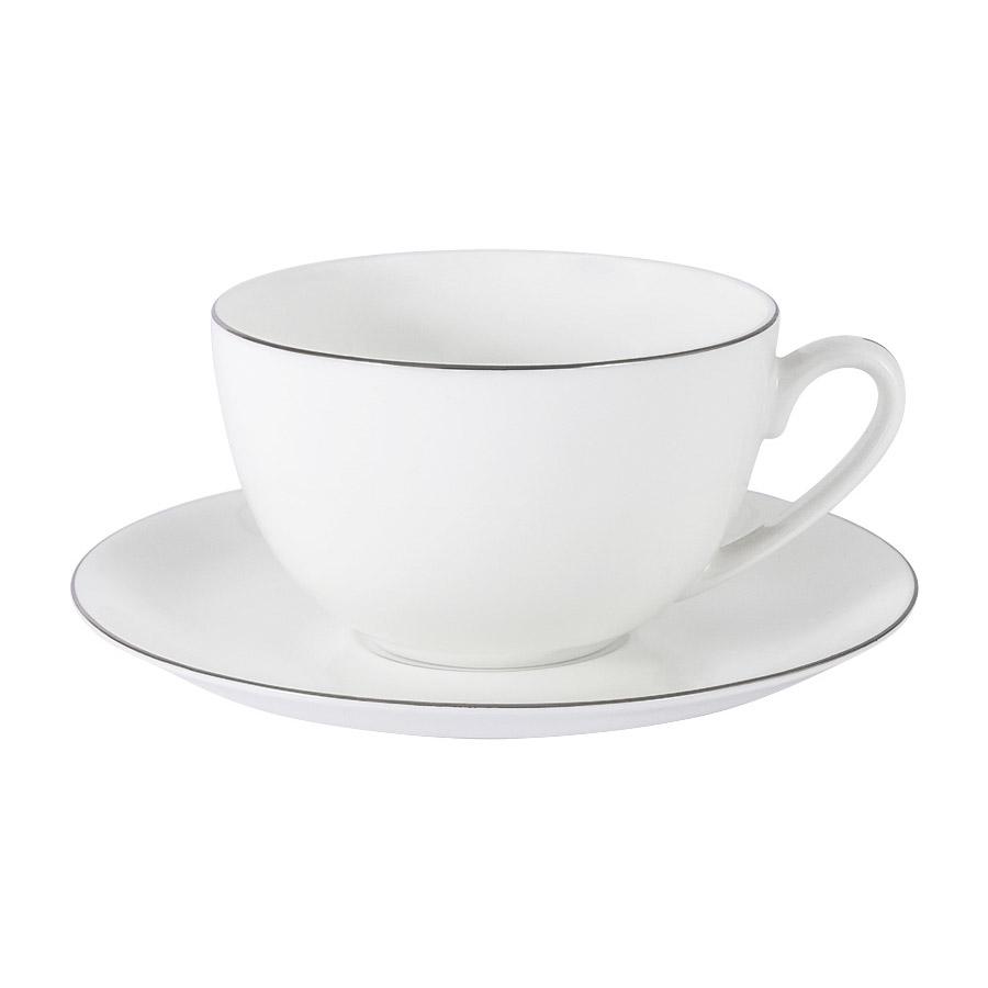 Чашка с блюдцем Anna Lafarg Emily Арктика 0,25 л чашка с блюдцем весна windsor