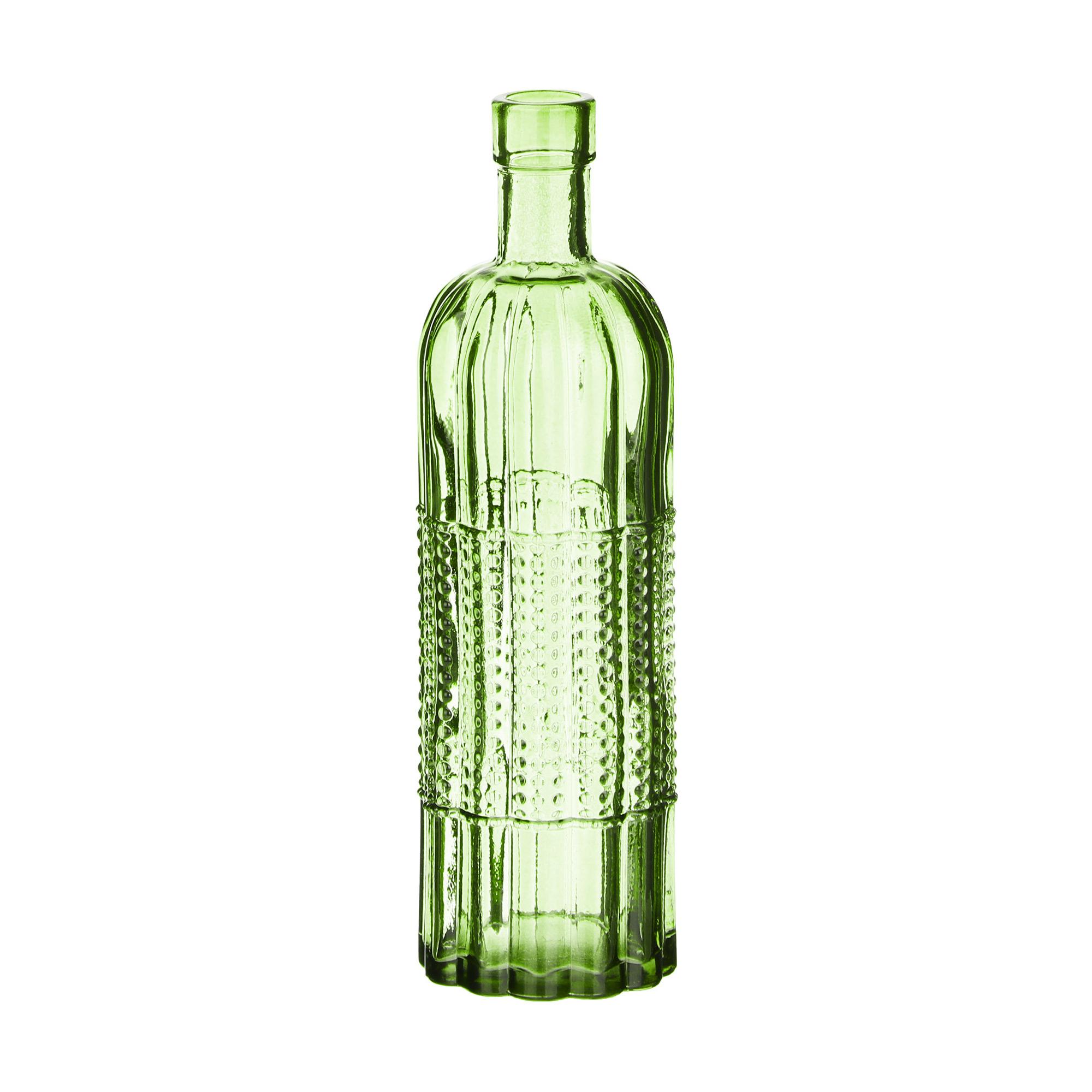 Бутылка-ваза стеклянная Kaemingk д7х24cm в ассортименте vz 549 ваза стеклянная жостово h 600 кувшин