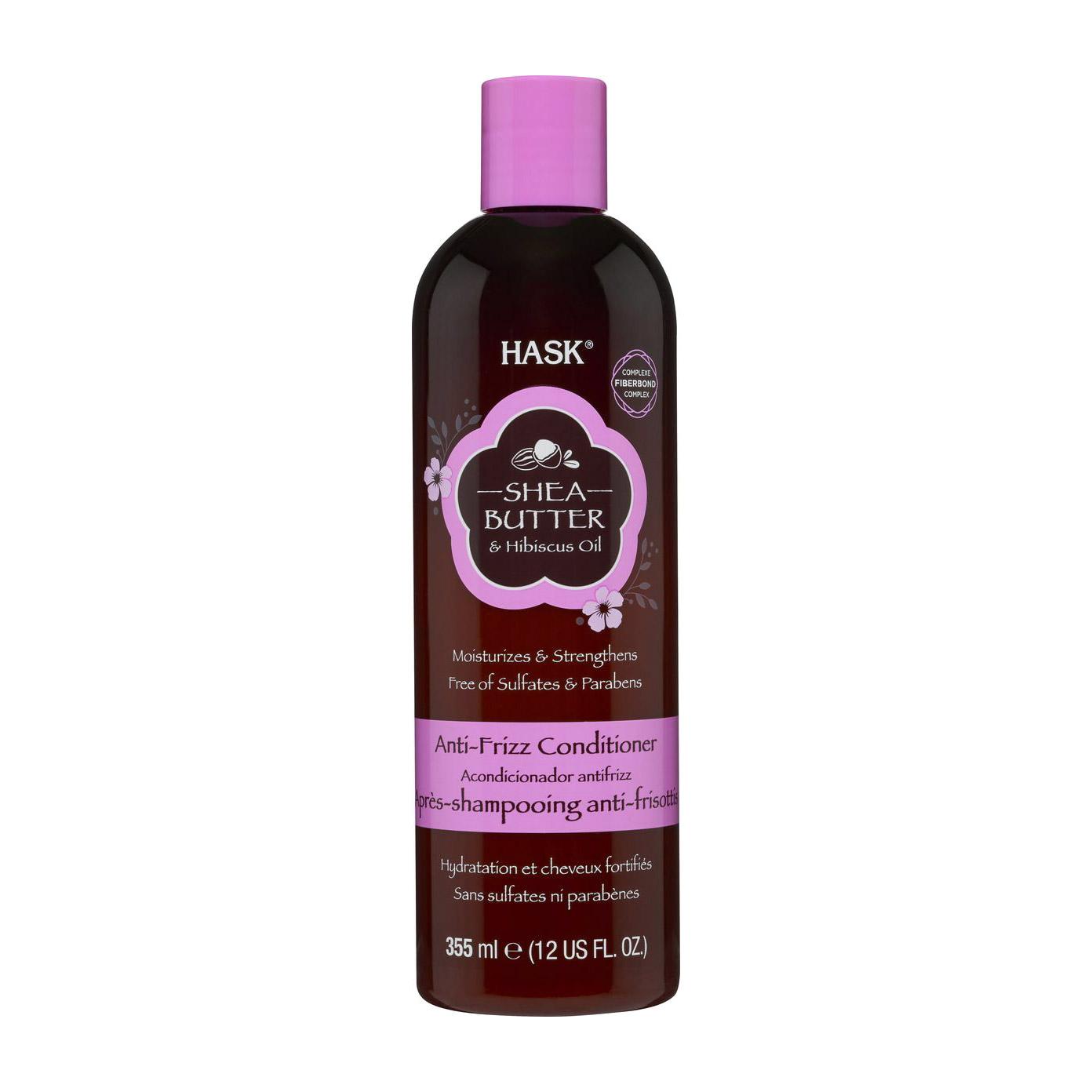 Кондиционер Hask для непослушных волос с маслом ши и экстрактом гибискуса 355 мл