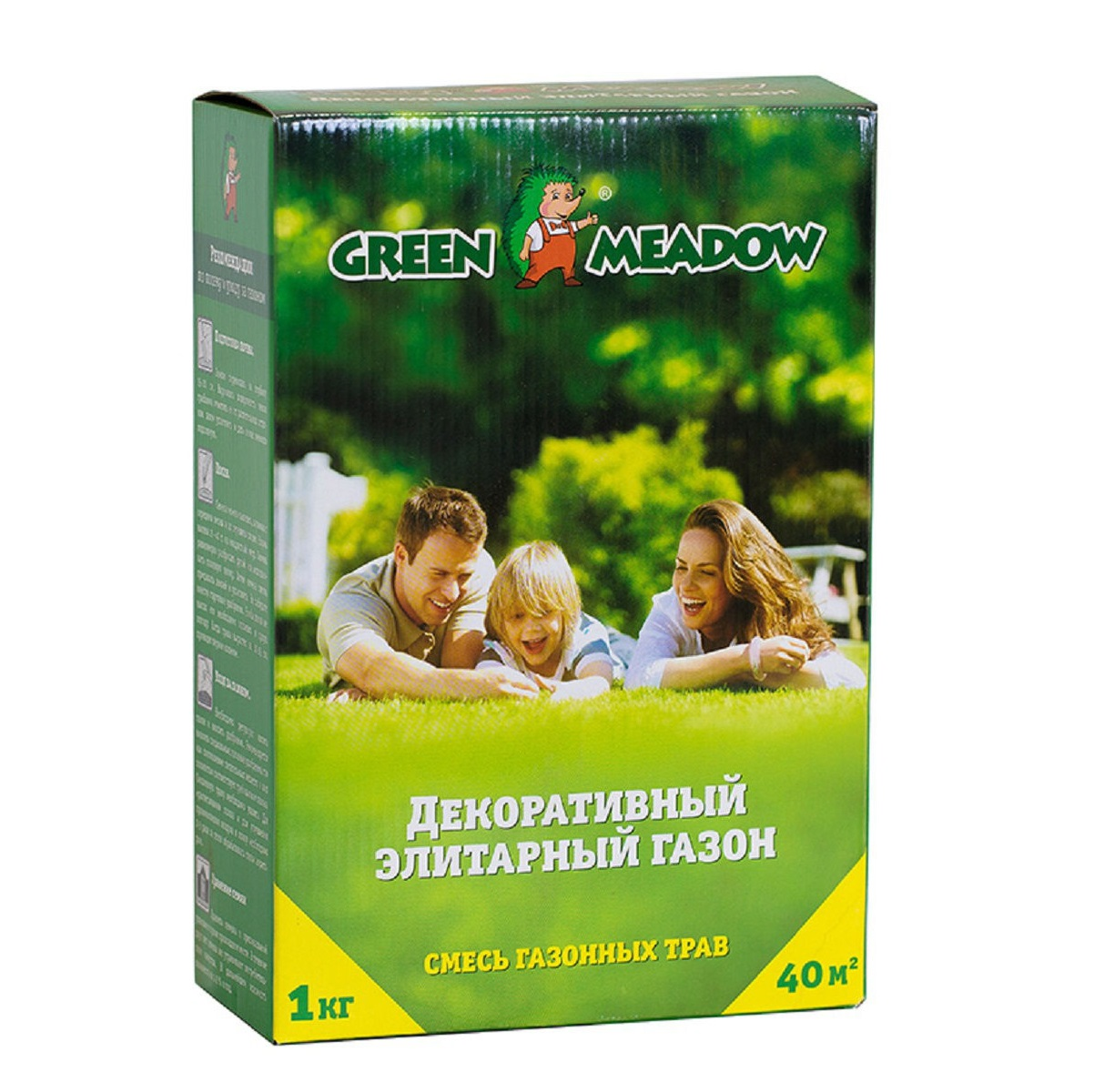 семена green meadow игровой газон 500 г Газон Green Meadow декоративный элитарный 1 кг