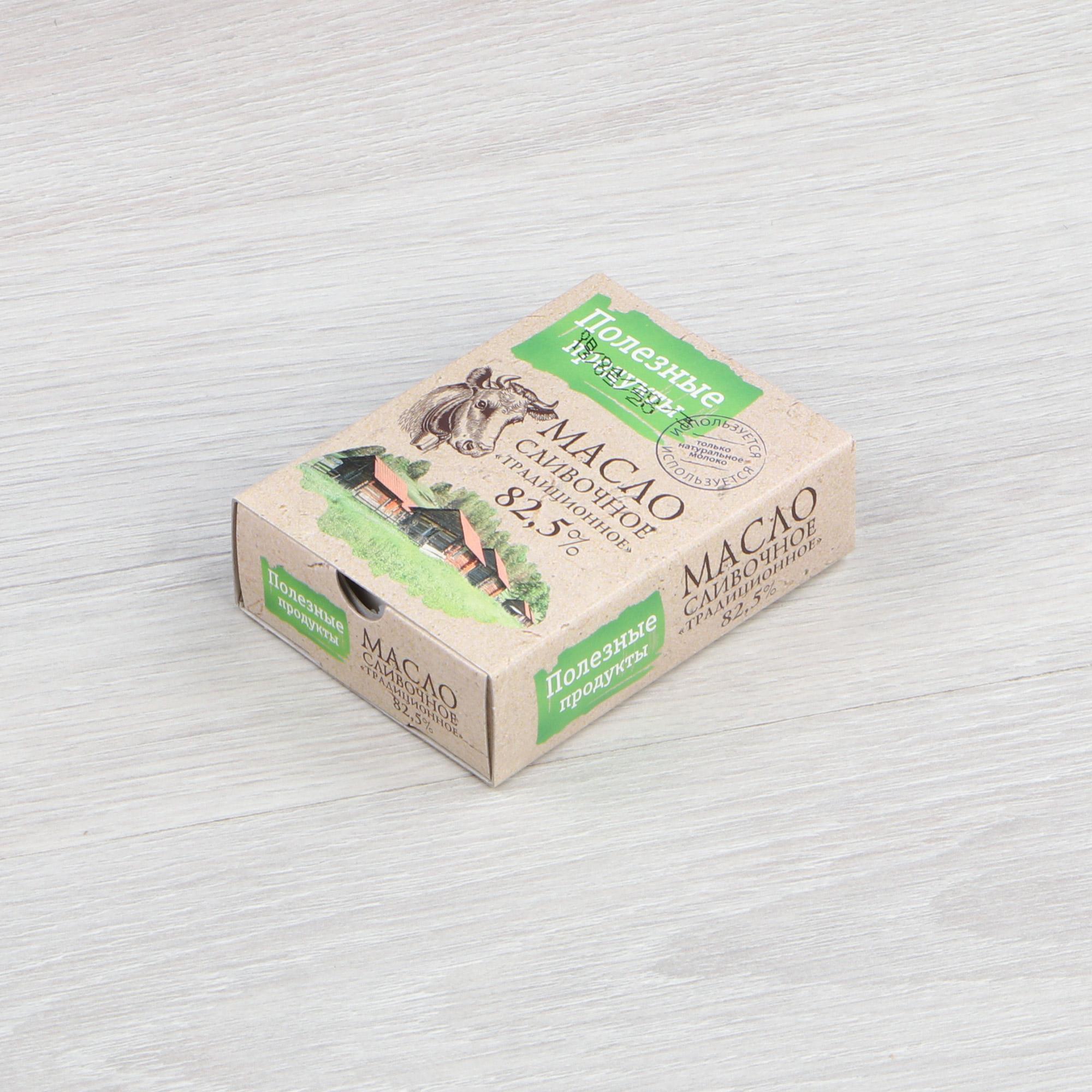 Масло сливочное Полезные продукты традиционное 82,5% 180 г