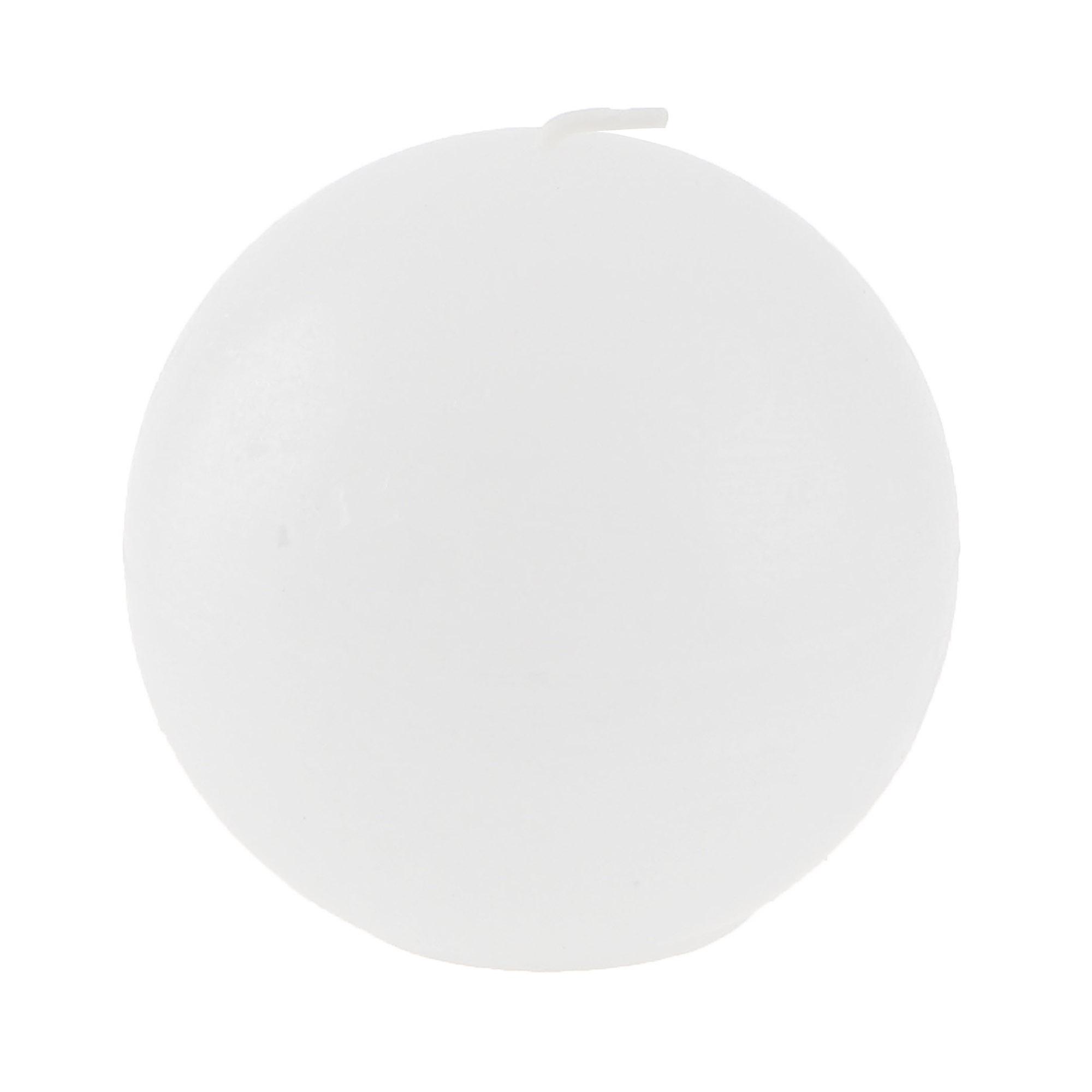 Свеча круглая Bolsius rustic 80мм белая