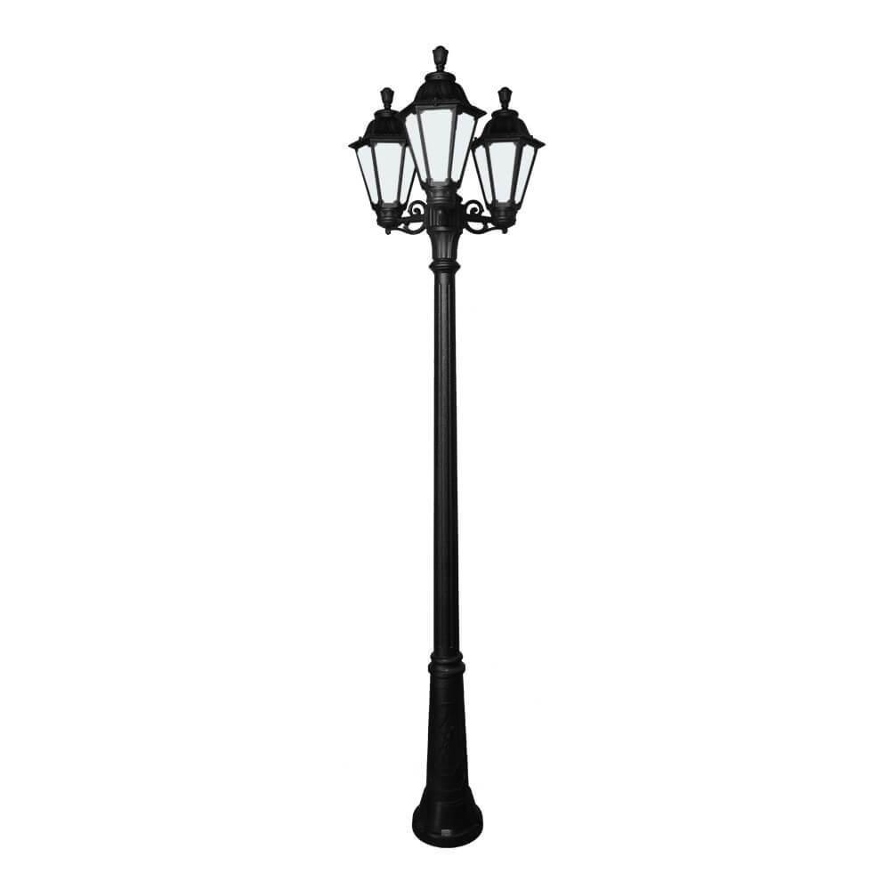 Светильник Fumagalli ricu bisso/rut 3l черный опальный