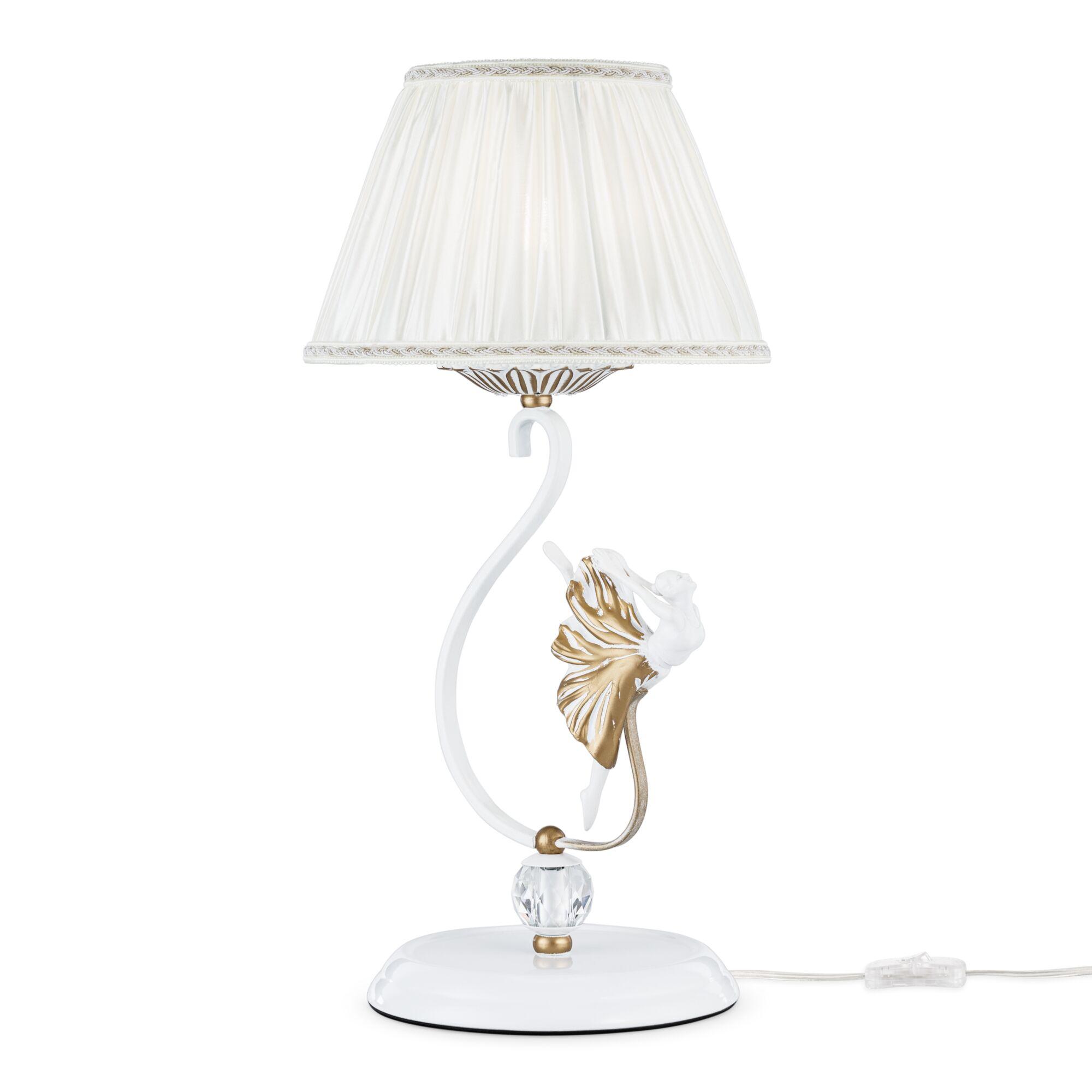 Настольная лампа Maytoni ARM222-11-G Белый с Золотом 1хE14х40W настольная лампа eurosvet 01002 1 белый с золотом