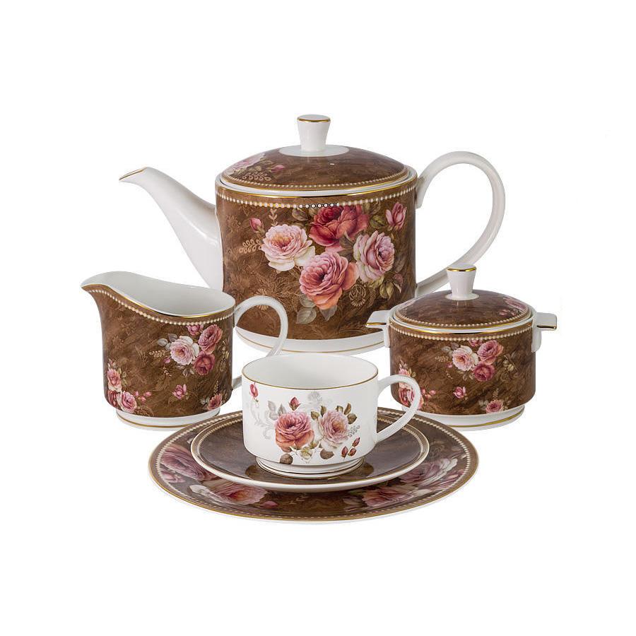 Чайный сервиз Anna Lafarg Английская роза 6 персон