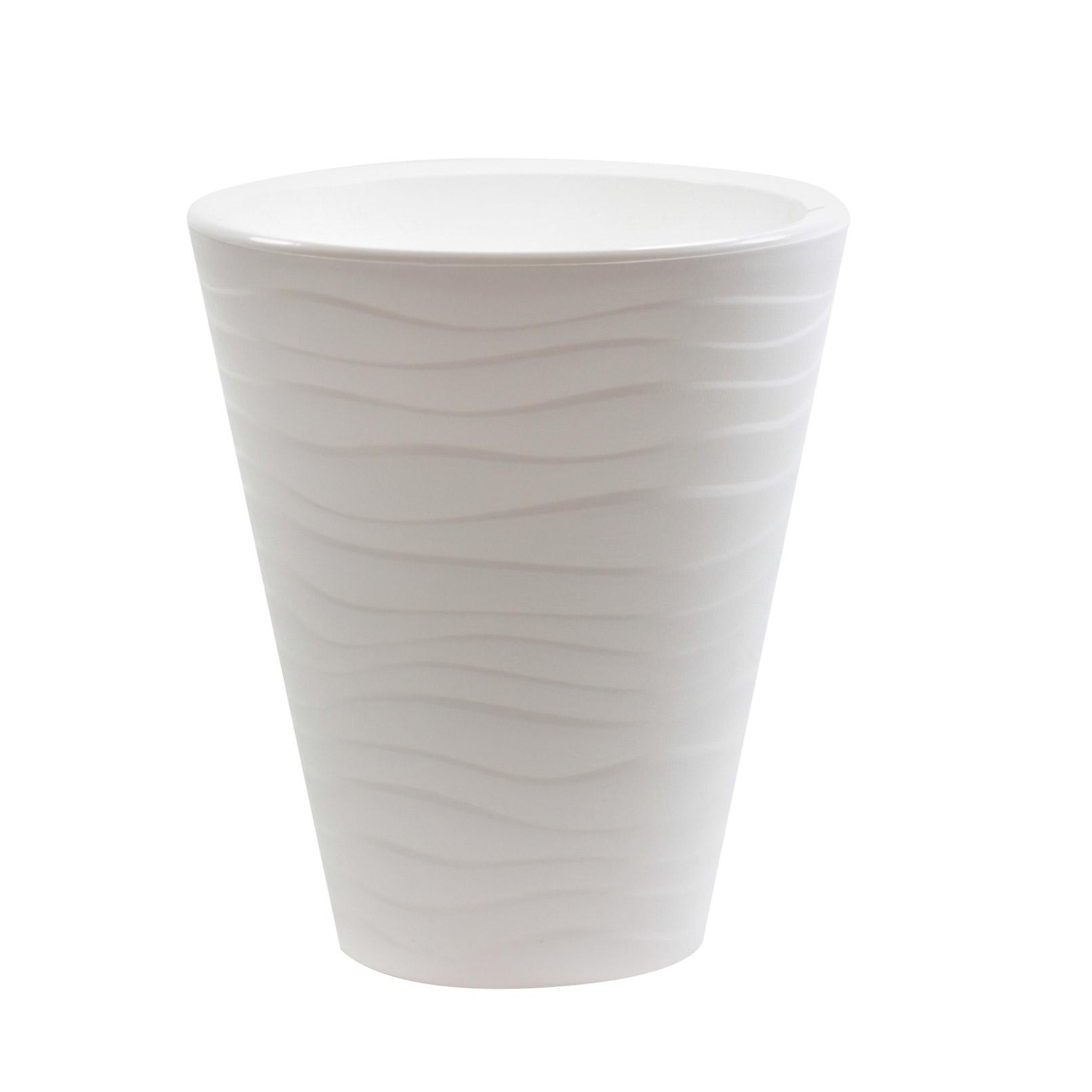 Кашпо Пластавеню Валенсия 2.8л. Белый d-17 см фото