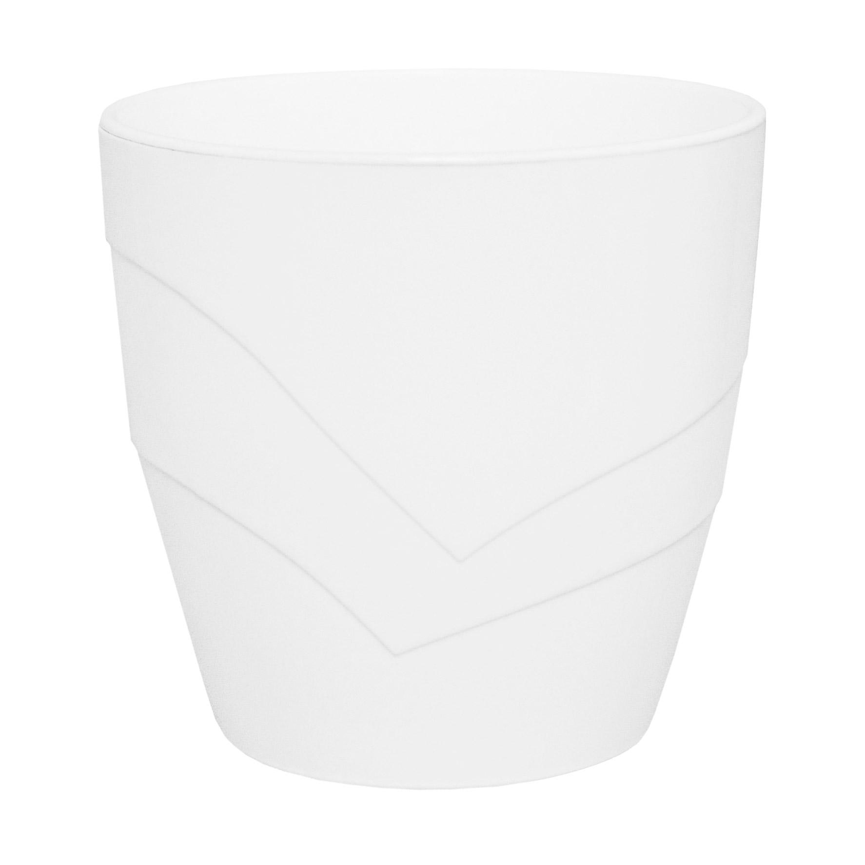 Кашпо Пластавеню грация 2.0л со вставкой белое d-15 см h-15 см фото