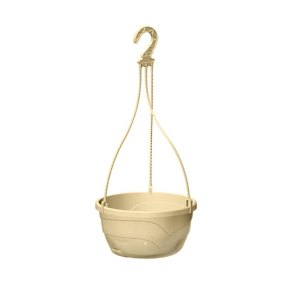 Горшок подвесной Пластавеню мальва кремовый d-25 см фото