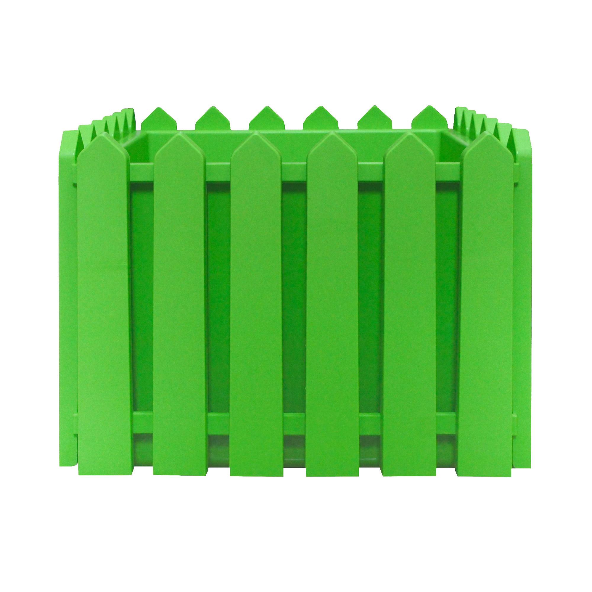 Кашпо Элластик-пласт Лардо квадратное зеленое 28х28х22 см фото