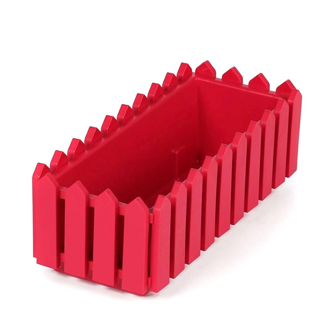 Ящик Элластик-пласт Лардо с поддоном Красн 47х19.2х16 см фото