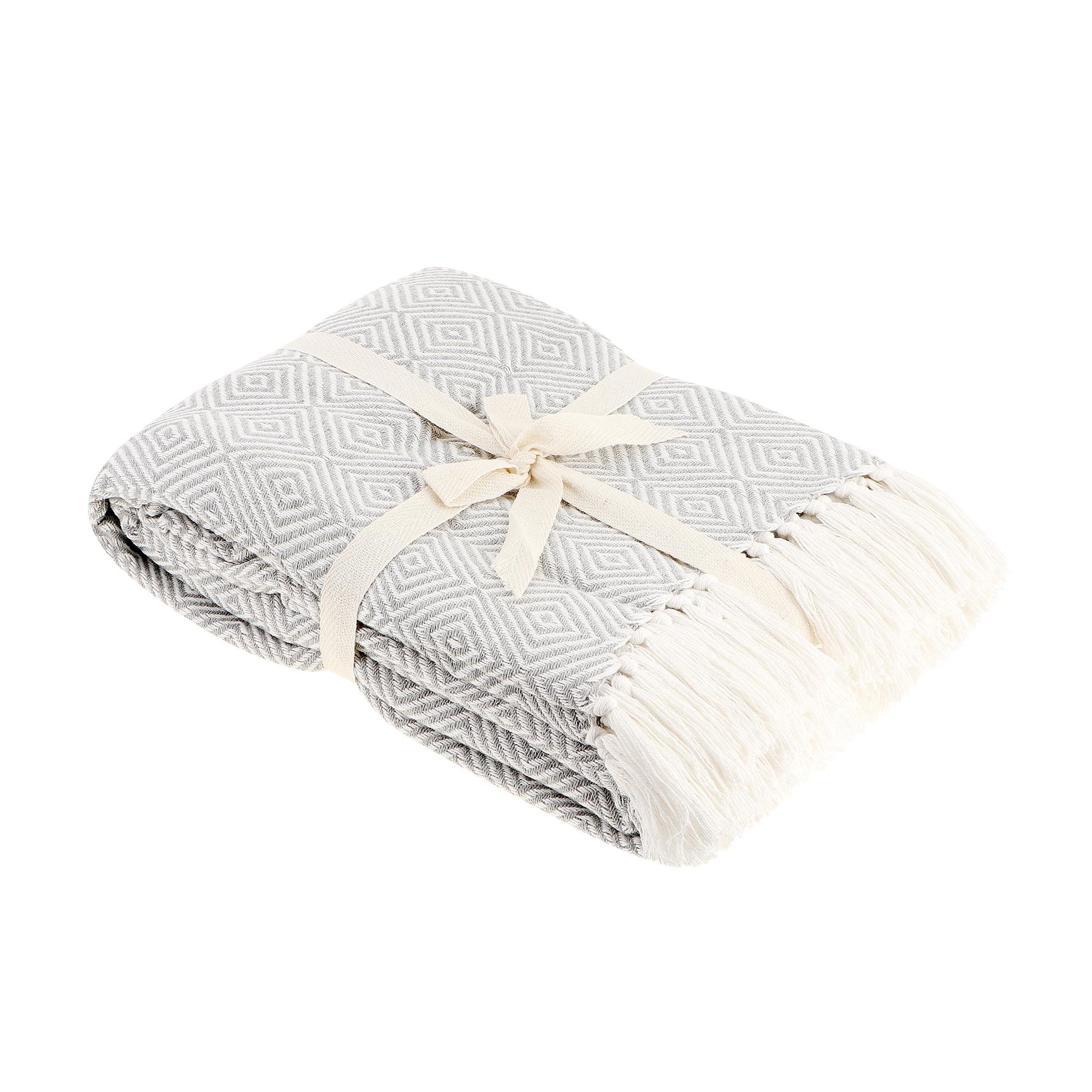 Плед Homelines textiles diamond 220x240cm light grey фото