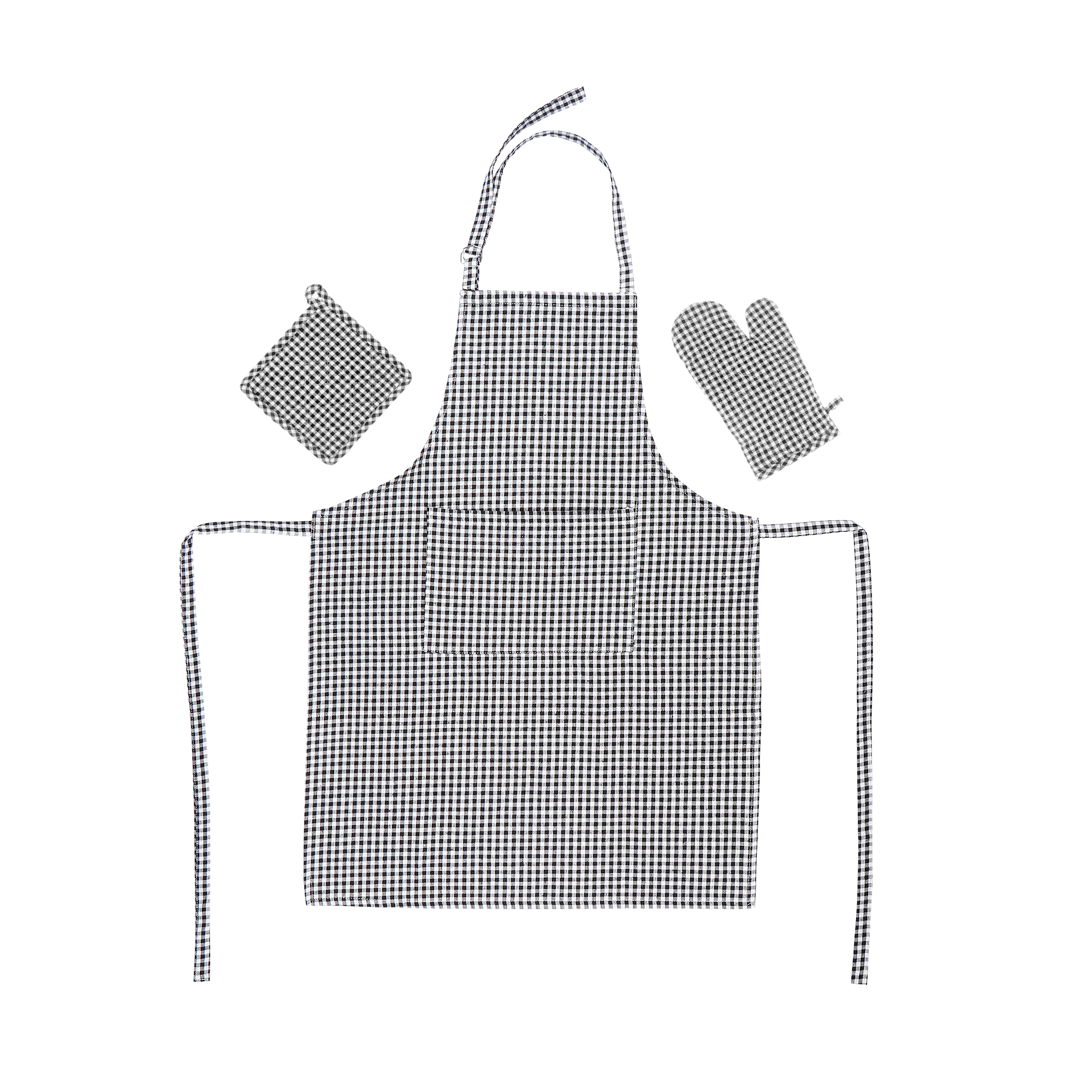 Набор кухонный Homelines textiles фартук/прихватка/рукавица dk grey фото