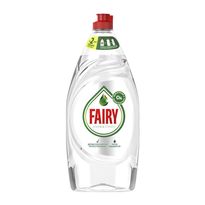 Средство для мытья посуды Fairy Pure & Clean 900 мл фото