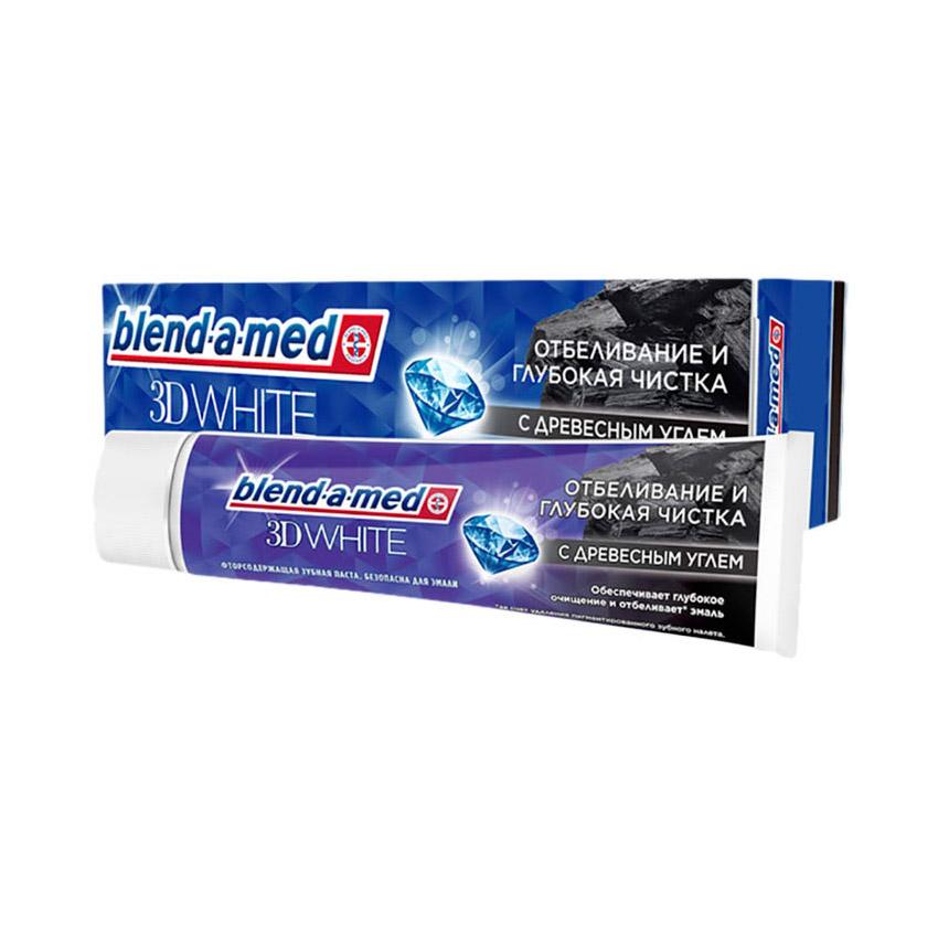 Фото - Зубная паста Blend-a-med 3D White с Древесным Углем 100 мл зубная паста blend a med экстра свежесть 100 мл