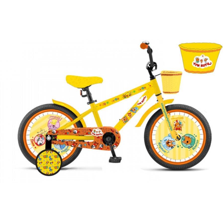 Детский велосипед Три Кота, колеса 12 дюймов фото