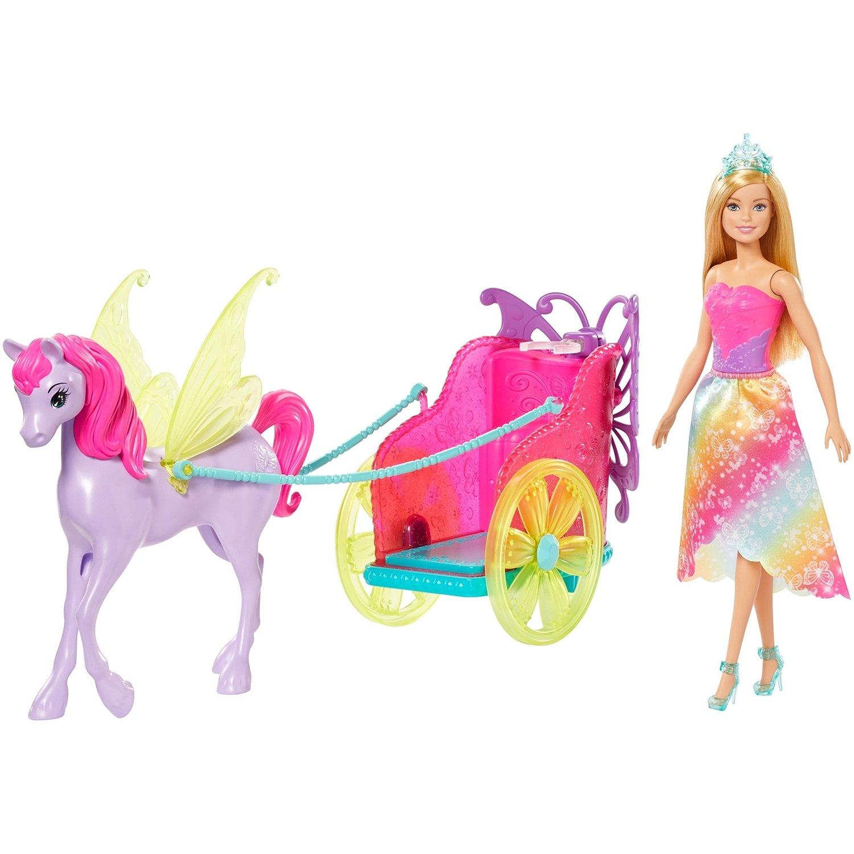 Игровой набор Mattel Barbie Сказочный экипаж с единорогом mattel игровой набор barbie тереза гимнастка