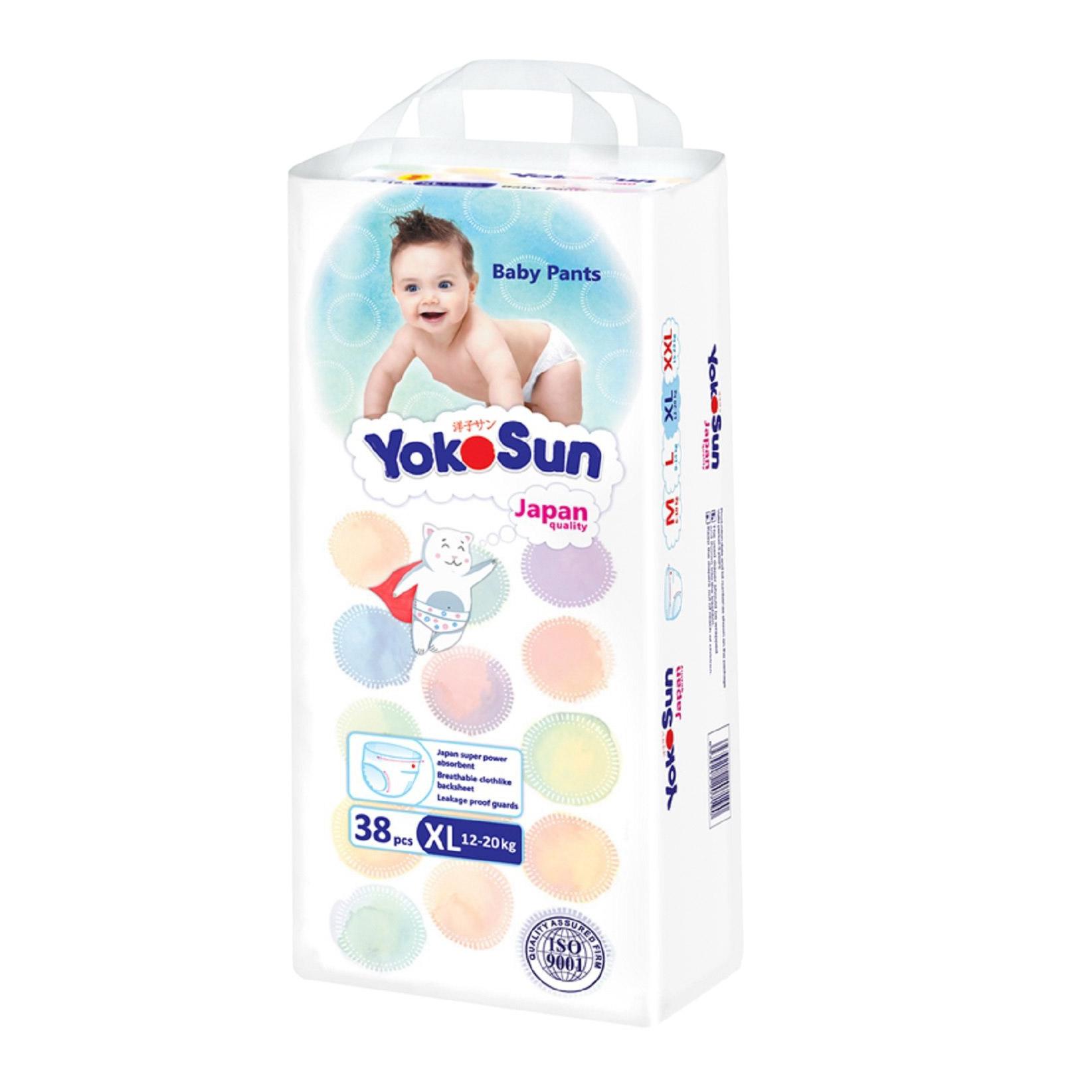 Фото - Подгузники-Трусики YokoSun XL 12-20 кг 38 шт yokosun трусики xl 12 20 кг 76 шт игрушка для ванной котик йоко