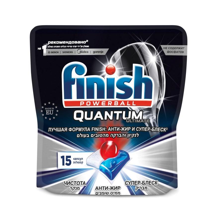 Капсулы для посудомоечных машин FINISH Quantum Ultimate 15 шт