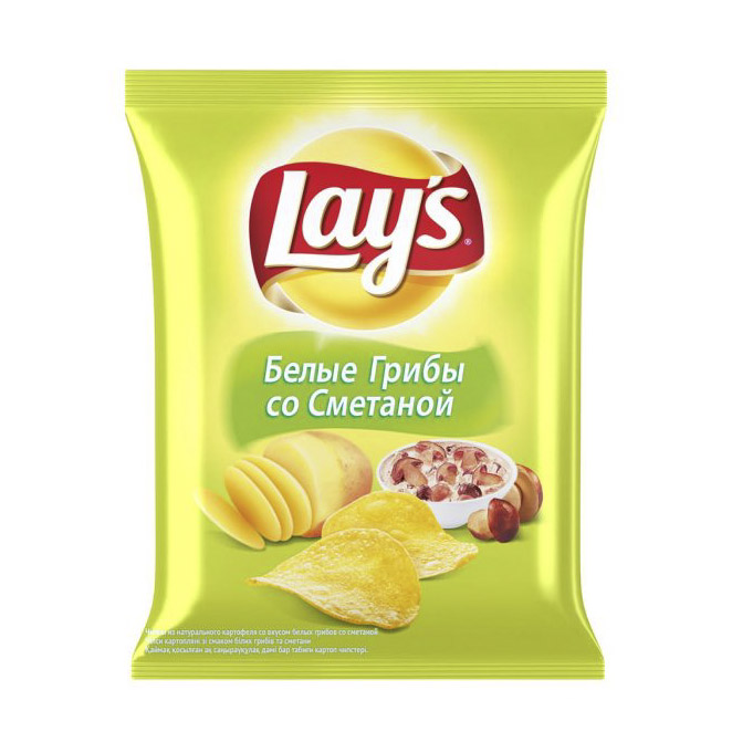 Чипсы картофельные Lays Белые грибы со сметаной 90 г недорого
