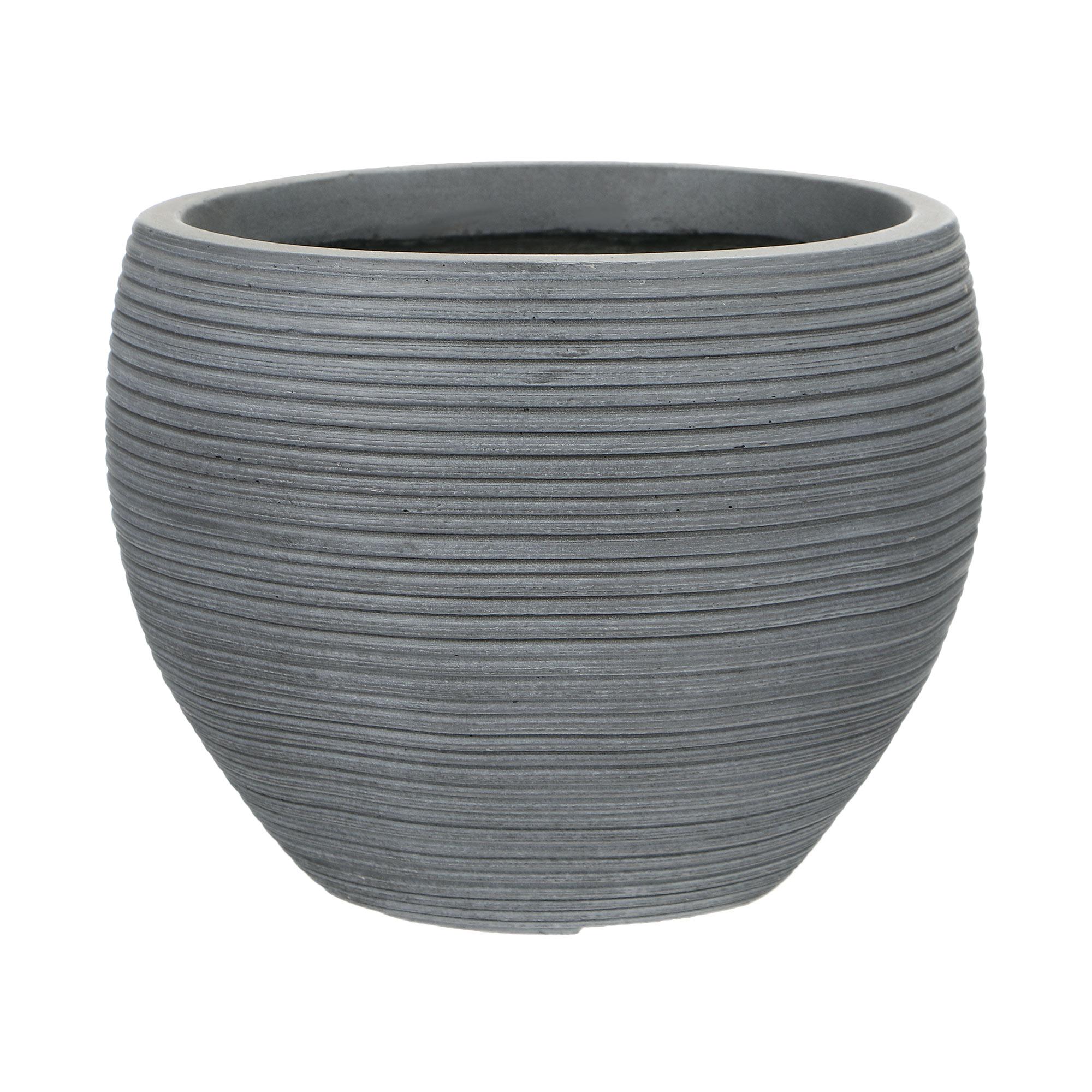 Горшок для цветов L&t pottery темно-серый d49.5