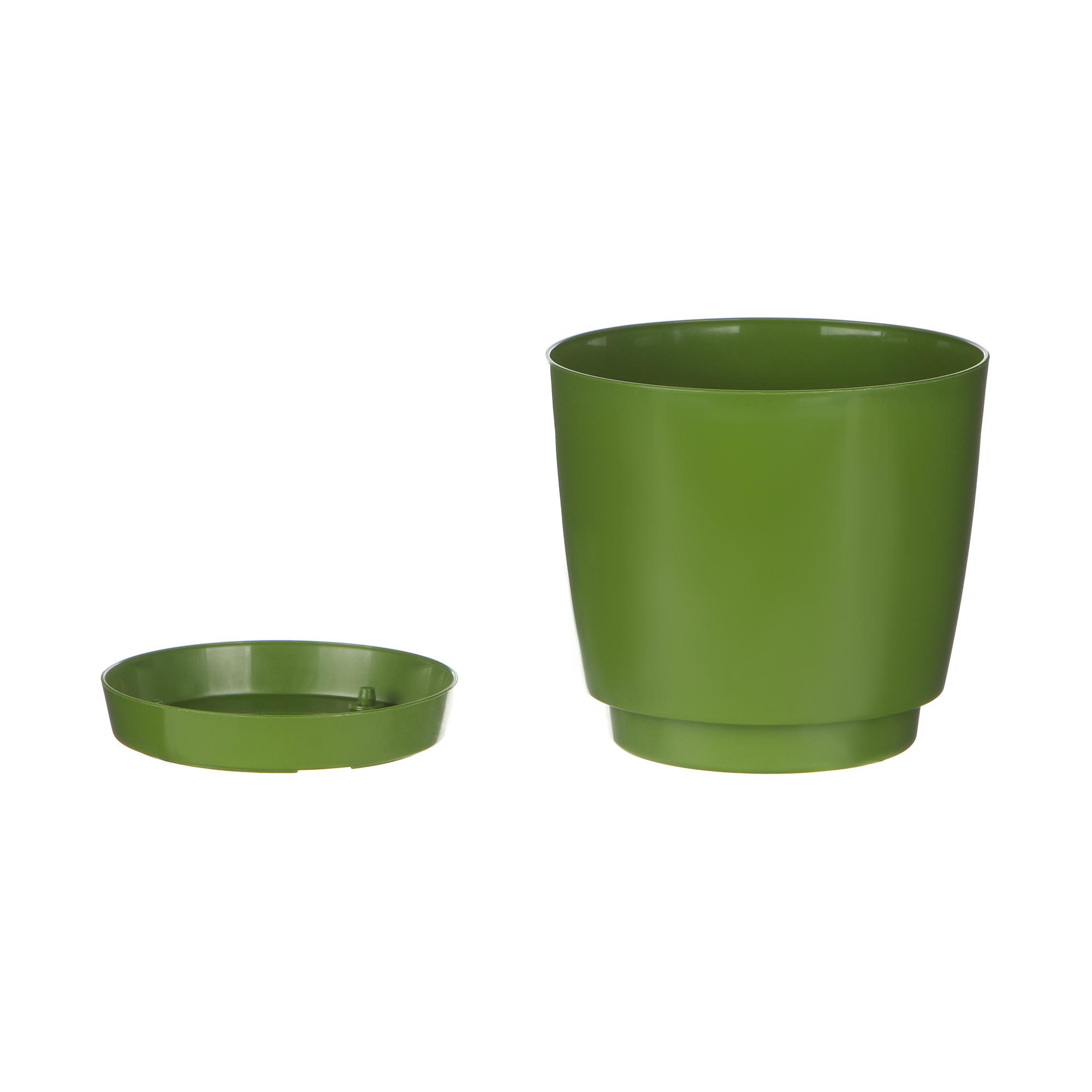 Кашпо Prosperplast coubi 10см оливковое
