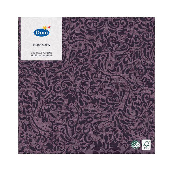 Салфетки Duni ZINNIA PLUM бумажные DL SOFT 40х40 см