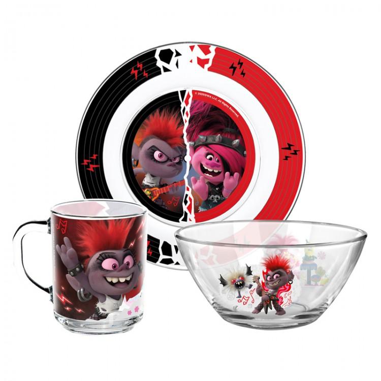 Набор посуды ND Play из 3 предметов Тролли 2 фото