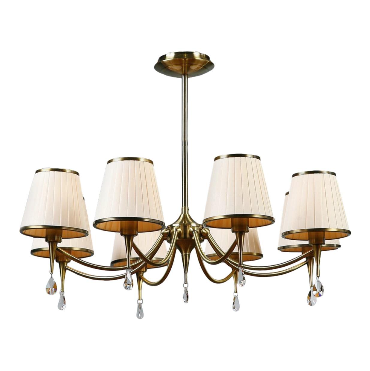 Люстра Brizzi ma 01625ca/008 bronze cream настольная лампа brizzi ma 01625t 001 bronze cream