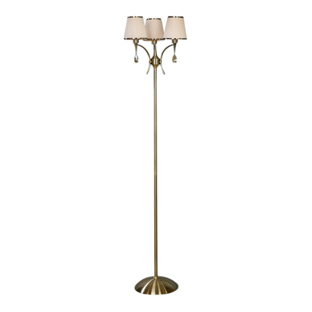 Торшер Brizzi ma 01625f/003 bronze cream настольная лампа brizzi ma 01625t 001 bronze cream