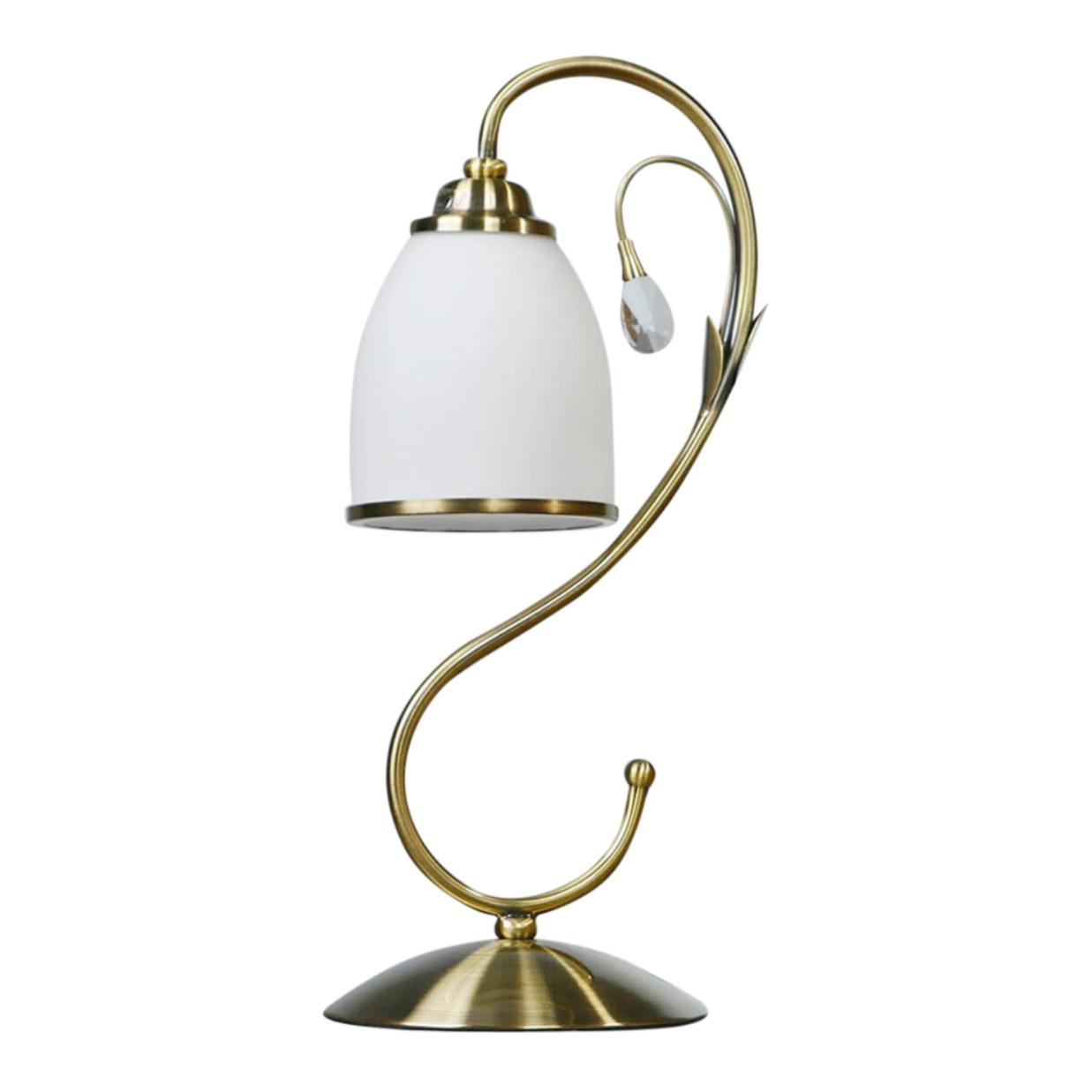 Лампа настольная Brizzi ma 02640t/001 bronze настольная лампа brizzi ma 01625t 001 bronze cream