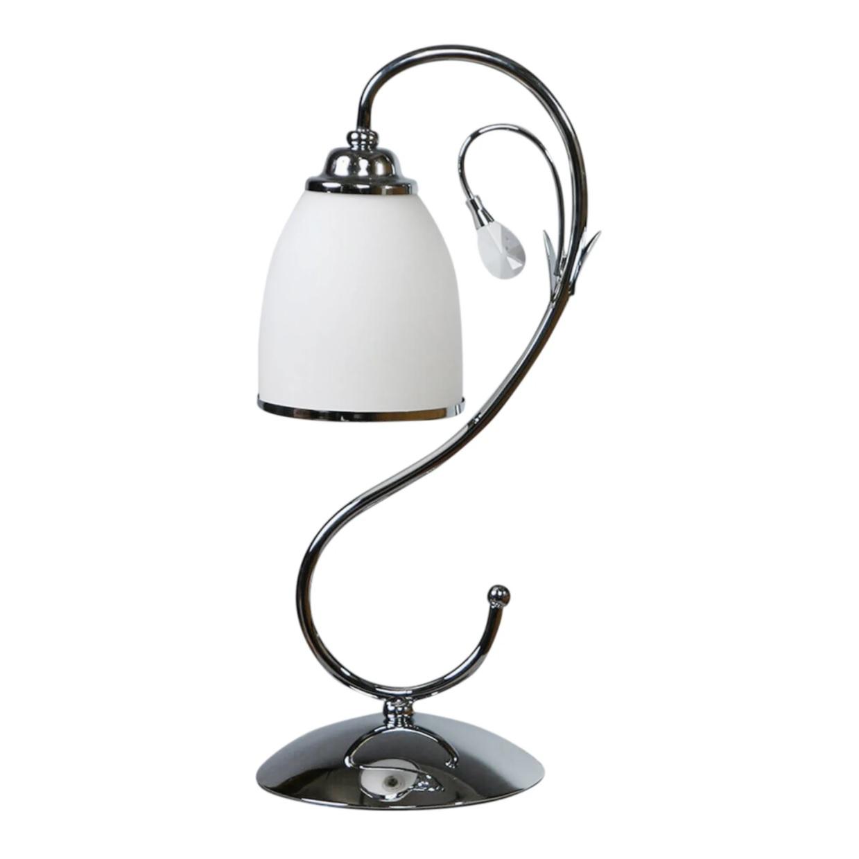 Лампа настольная Brizzi ma 02640t/001 chrome настольная лампа brizzi ma 01625t 001 bronze cream