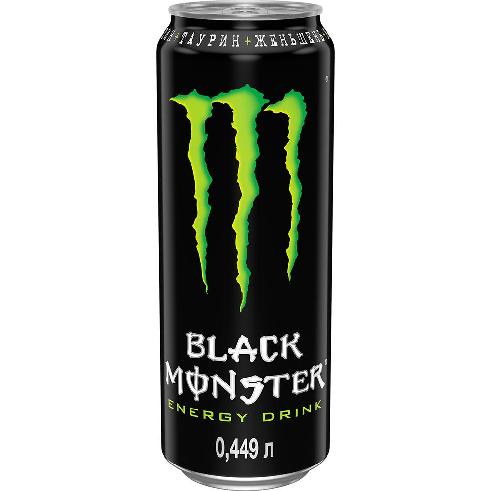 Напиток энергетический Black Monster Energy 449 мл