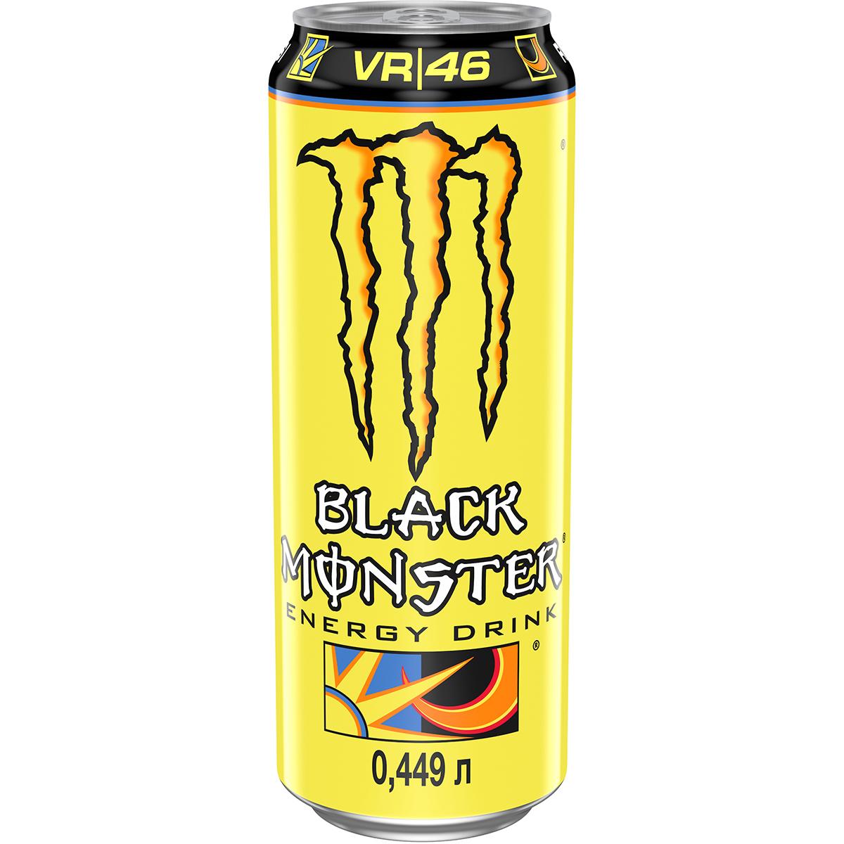 Напиток энергетический Black Monster The Doctor 449 мл напиток энергетический monster green 500 мл
