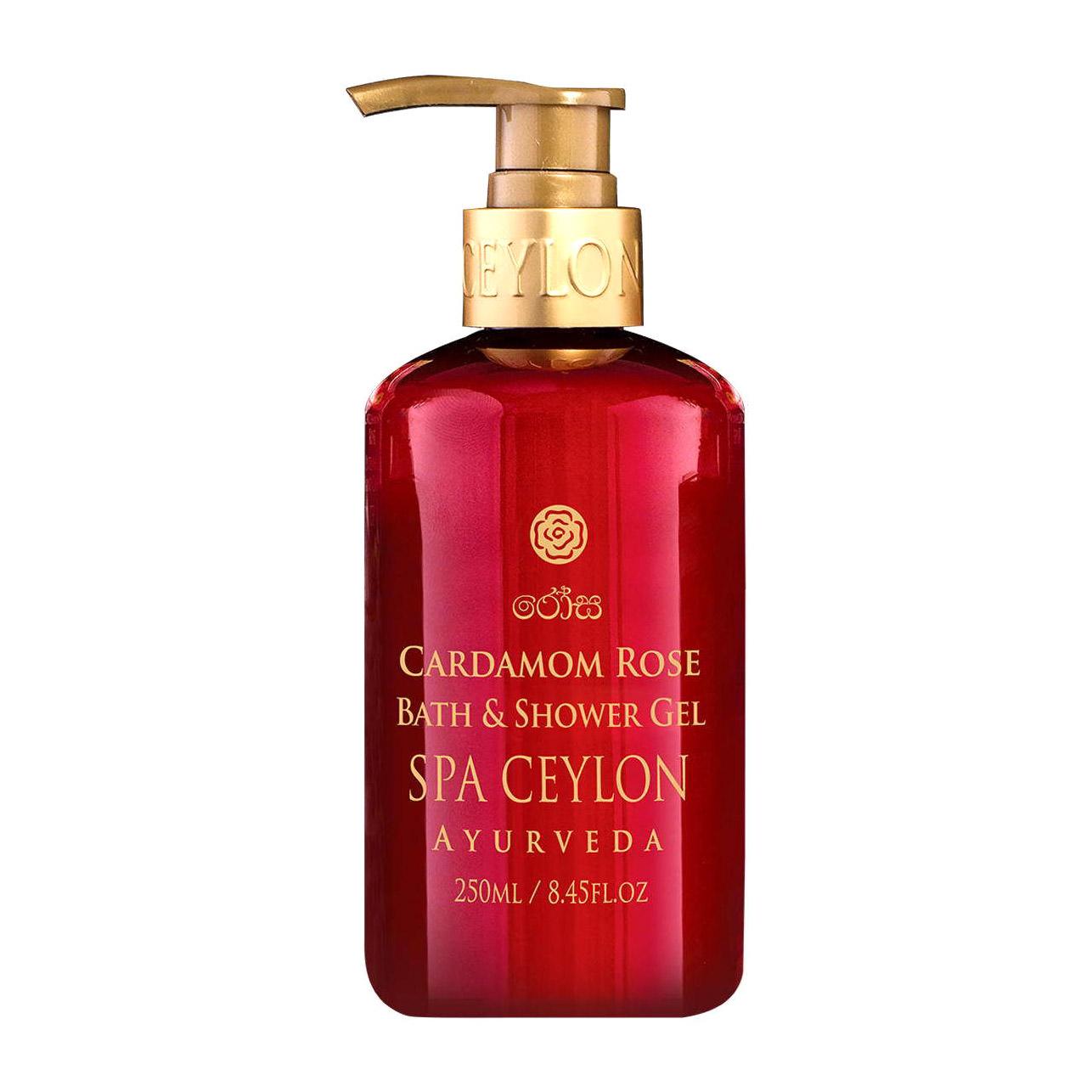 Натуральный аюрведический гель для ванны и душа Spa Ceylon РОЗА И КАРДАМОН 250 мл недорого